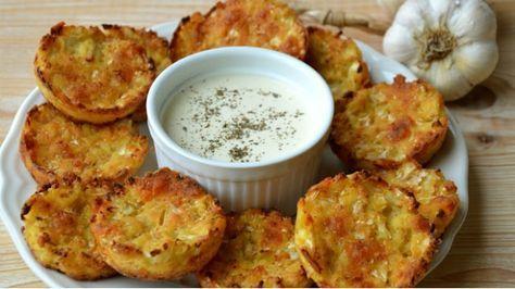 Bezlepkové květákové placičky s mozzarellou a česnekovým dipem z kokosového mléka | Prima Fresh