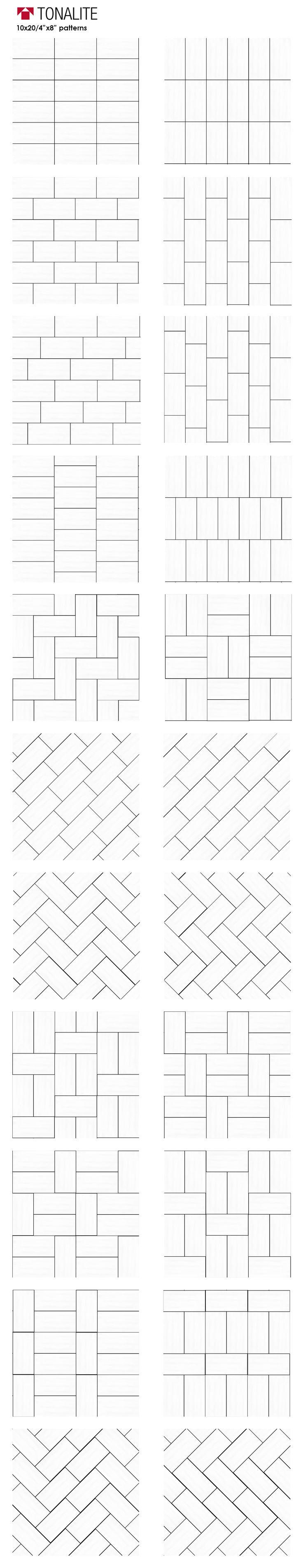 Tonalite 20 creative ways to lay 4″x8″ tile. subwa…