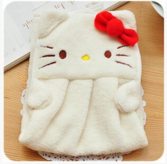 Good Baby Nursery Hanging Hand Bath Towels Bath Soft Plush Cartoon Animal Design Inspirations