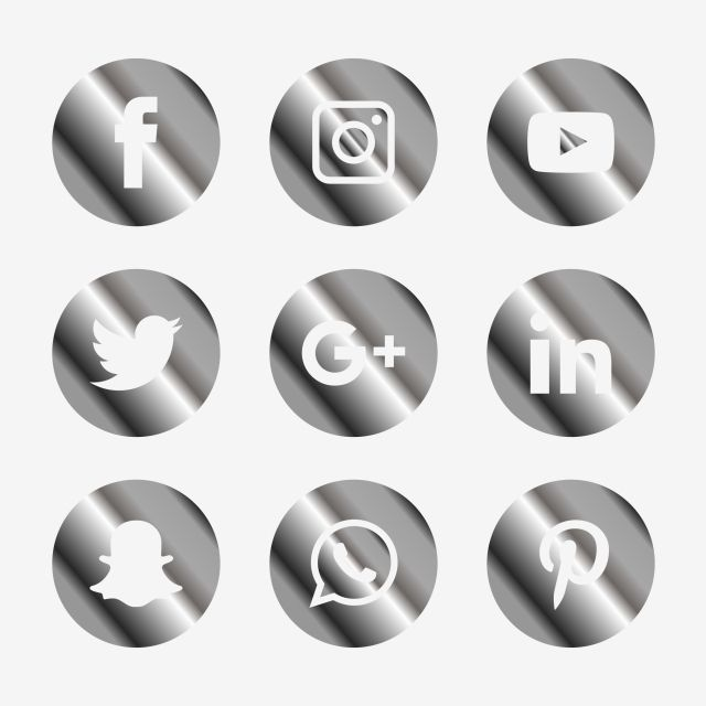 Social Media Icons Set Logo Vector Illustrator Social Icons Logo Icons Media Icons Png And Vector With Transparent Background For Free Download Social Media Icons Media Icon Social Icons