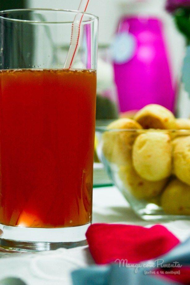 Pink Lemonade, perfeito para um dia quente. Clique aqui na imagem para ver a Receita no blog Manga com Pimenta.