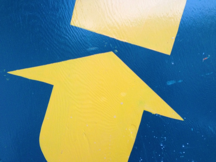 Blue yellow arrow