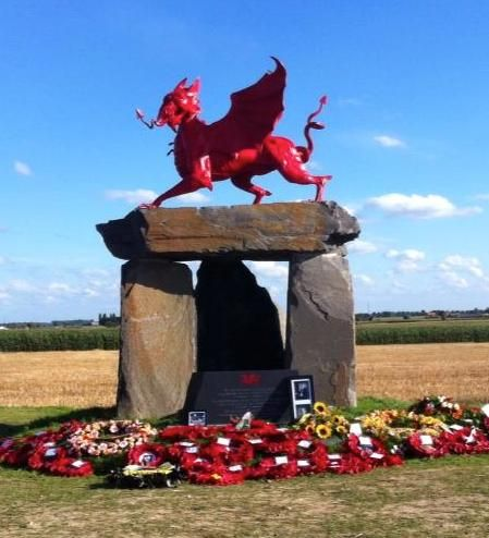 The new Welsh Memorial for the Ypres Salient.
