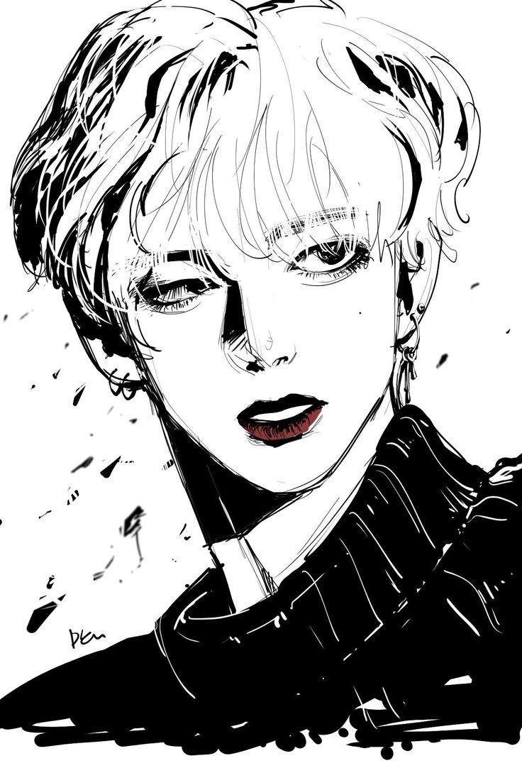 V BTS art Bts drawings, Bts fanart, Kpop drawings