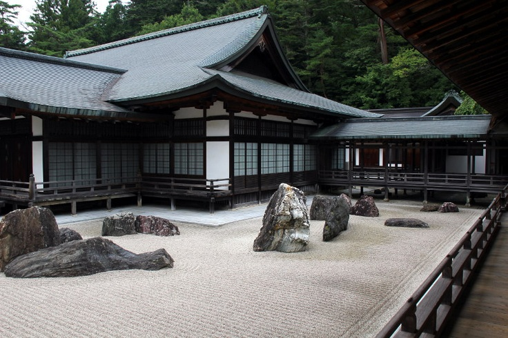 Banryūtei Stonegarden in the Kongobuji Temple on the Templemountain Koyasan - Japan:    You can see many diffrent temples and a wonderful old pilgrim way on top of the mountain.
