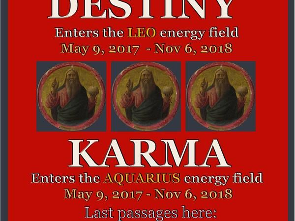 From 1980-1981 and again from 1998-2000 Destiny played out in Leo while Karma played out in Aquarius. In the week ahead we get round 3 starting up and it will last for 18 months. We also enter a 3 day period of amplified Mars energy as the Full Moon in Scorpio brings something to a climax involving finances, sex, reproduction, divorce, death, birth, power, control, or third party situations, and Mars, co-ruler of this Full Moon, then connects with Neptune and Jupiter to push these factors…