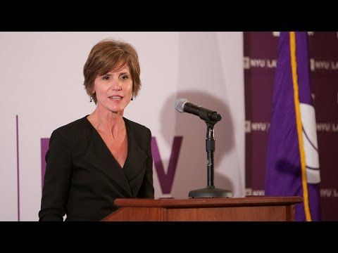 9/10/2015 DOJ//GEORGIA: Deputy Attorney General Sally Quillian Yates🔹Addresses Individual Liability for Corporate Wrongdoing (connected to Eric Holder🔹) NYU School of Law.