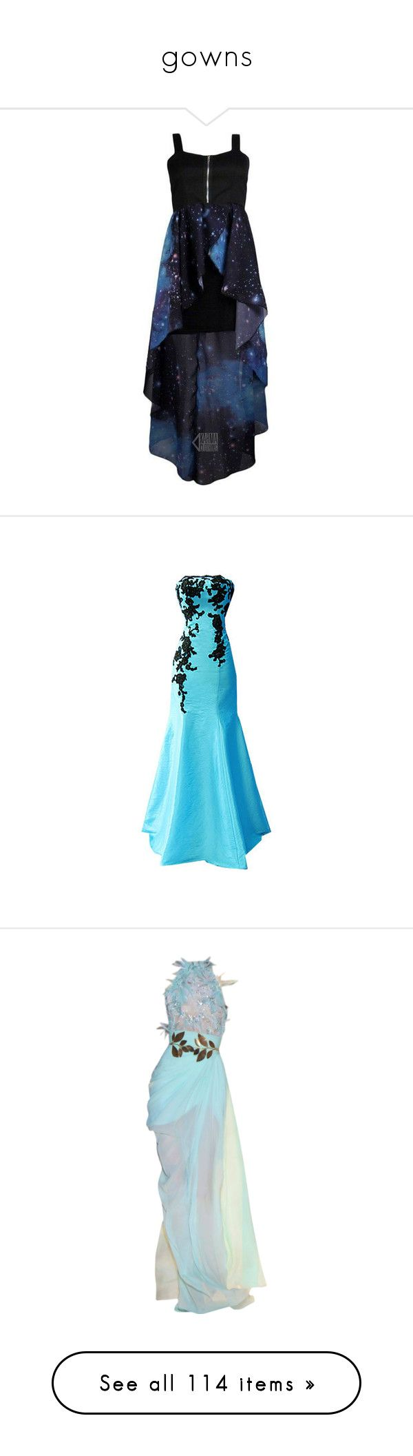 """""""gowns"""" by writingismydreams ❤ liked on Polyvore featuring dresses, prom homecoming dresses, hi low dress, high low dresses, hi low prom dresses, hi lo prom dresses, gowns, long dresses, vestidos and blue"""