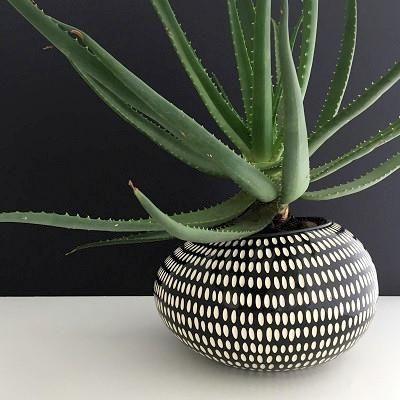 Black and White Pebble Pot