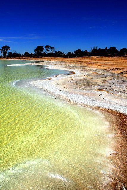 Salt lake, Western Australia.
