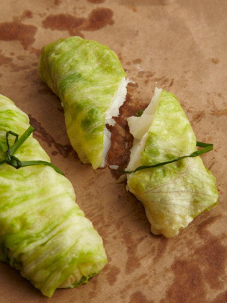 Lettuce Wrapped John Dory