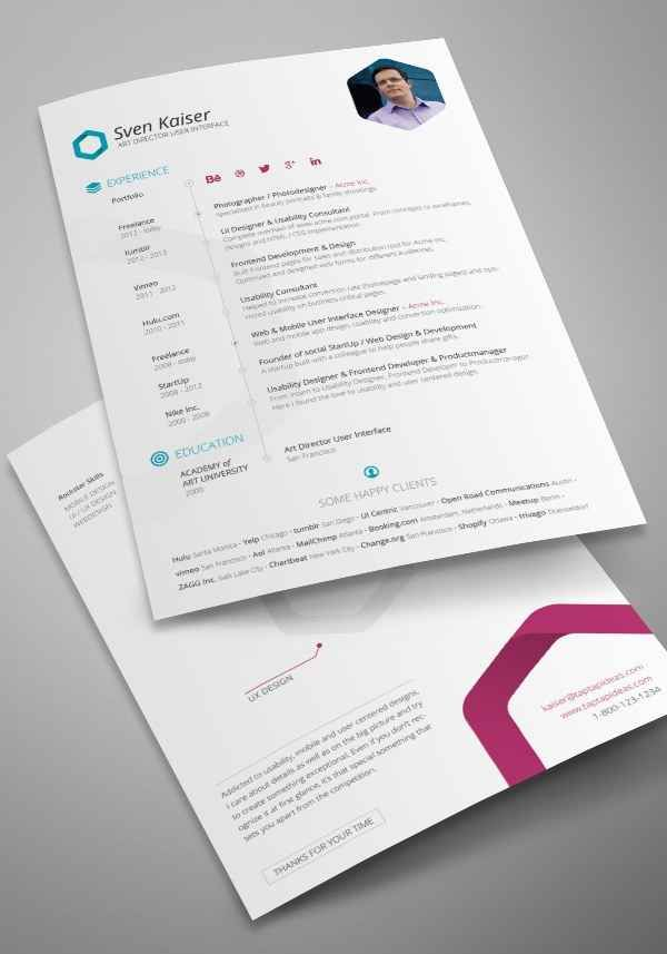 Cv Templates Pdf%0A   Free R  sum   Templates That Will Get You Noticed