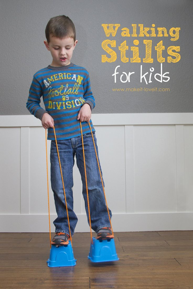 DIY Walking Stilts for Kids | Make It and Love It