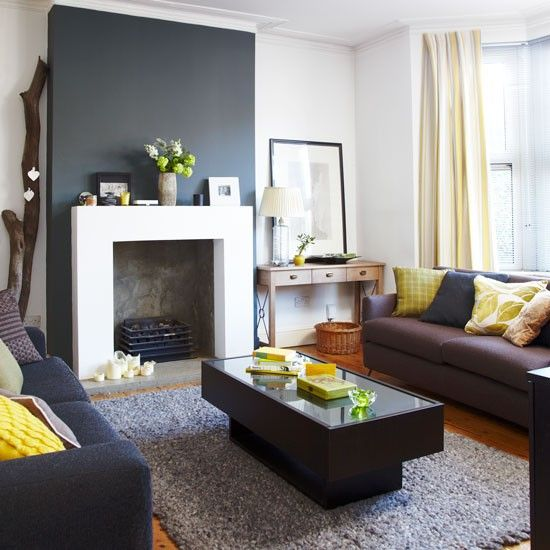 Simple fire surround | Inexpensive living room ideas | Living room | PHOTO GALLERY | Style at Home | Housetohome.co.uk