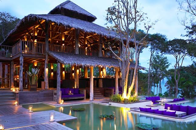 Looks like a cosy honeymoon spot to me :) Six Senses Hideaway Yao Noi: Phang Nga Bay, Thailand (00 66 76 418 500; www.sixsenses.com).