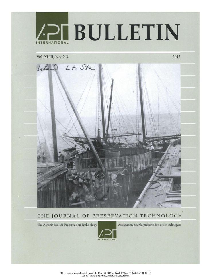 APT Bulletin Vol. 43, No. 2/3, 2012