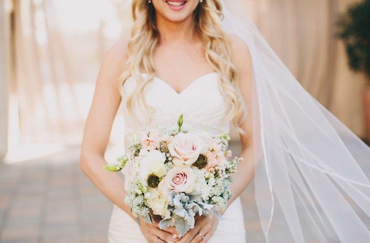 Casablanca Wedding Dress for a Shabby chic wedding with blush and champagne colours Photographed by: laurenscotti.com | read full #wedding on fabmood.com::
