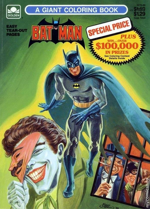 Vintage Batman Coloring Book