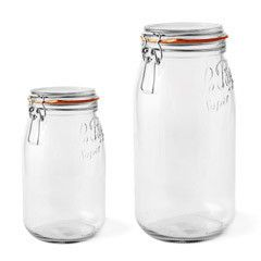 Jars for my baking cupboard. 2 large for flour. 3 medium for sugar