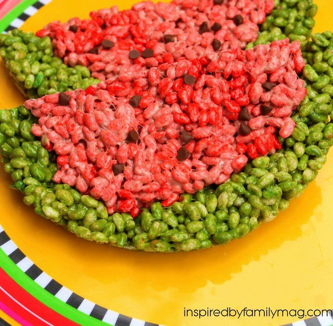 Rice krispie watermelon