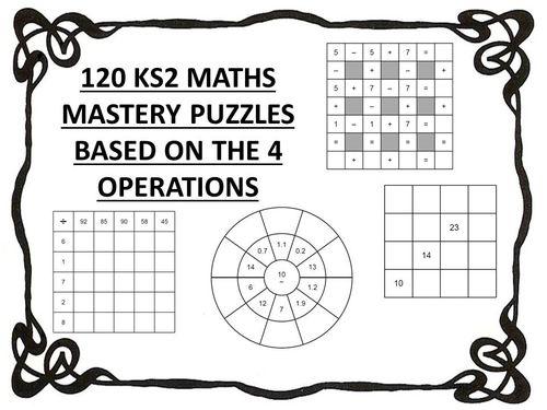 120 ks2 maths mastery puzzles - 4 operations