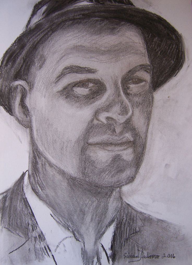 Tuure Kilpeläinen, a charcoal and pencil drawing by Sirkka Jalava 5.6,2016