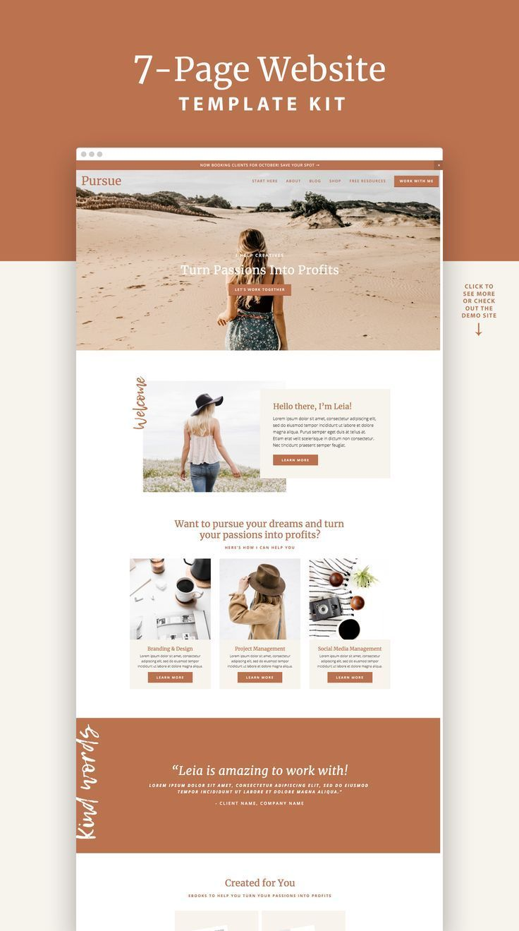 Pursue Squarespace 7 0 Template Kit With Images Website