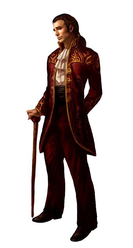 Male Aristocrat Noble - Pathfinder PFRPG DND D&D d20 fantasy