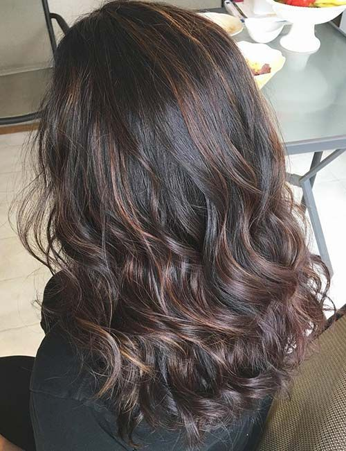 70 Fabulous Ideas For Dark Brown Hair With Highlights Hairstyle