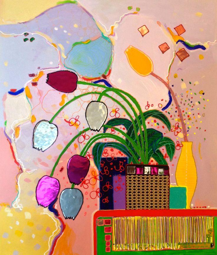 """""""La Différente"""" by Jean Tannous (acrylic painting)"""