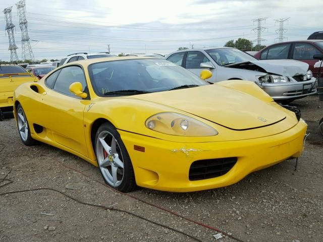 Salvage 2001 Ferrari 360 Modena Car Auctions Ferrari 360 Super