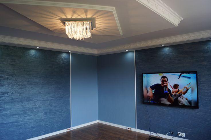 eleganter Salon blue&white