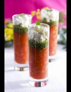Verrine tomates basilic mozzarella