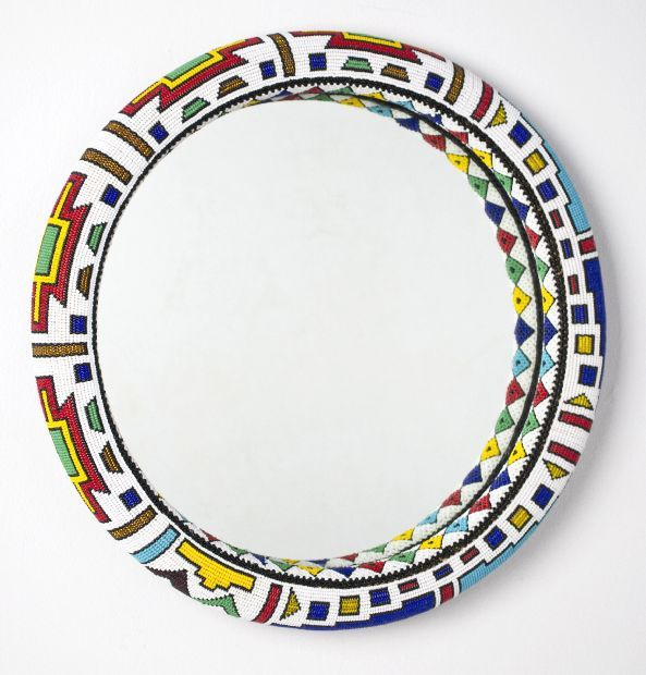 Ndebele Wall Mirror - Sithabe African Craft. (South Africa)