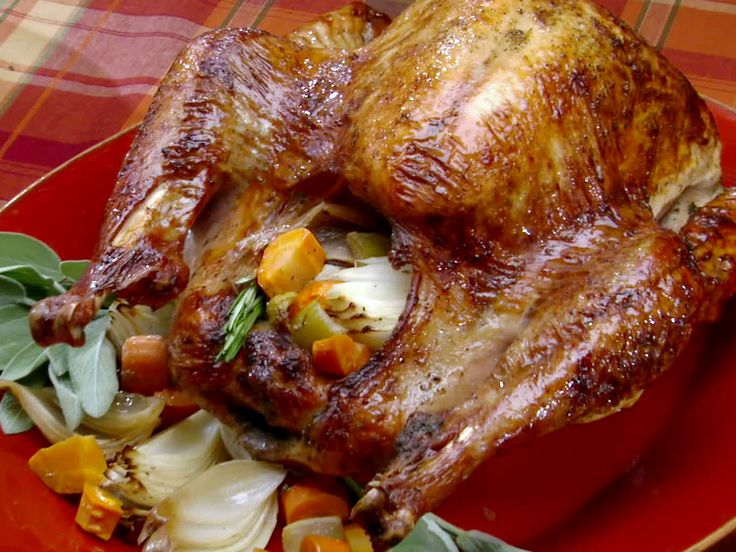 Thanksgiving Pioneer-Style Herb Roasted Turkey recipe from Bobby Flay via Food Network