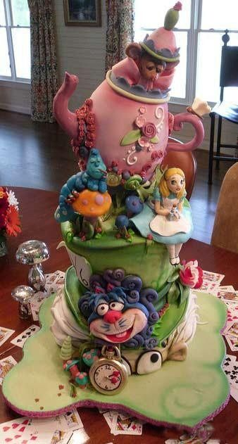Alice In Wonderland #cake #whimsical  #wedding www.BrassTacksEvents  www.facebook.com/BrassTackEvents  www.twitter.com/BrassTacksEvent