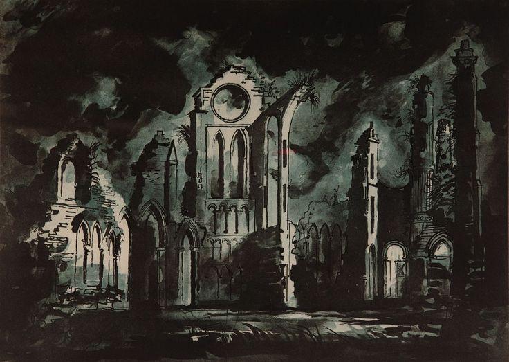 Arbroath Silkscreen Print by John Piper