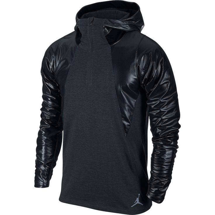 The weather won't take the wind out of your workouts with the Jordan Men's Air  Jordan Stay Warm Fitted Shield Hoodie. Water-resistant overlays will help  to ...