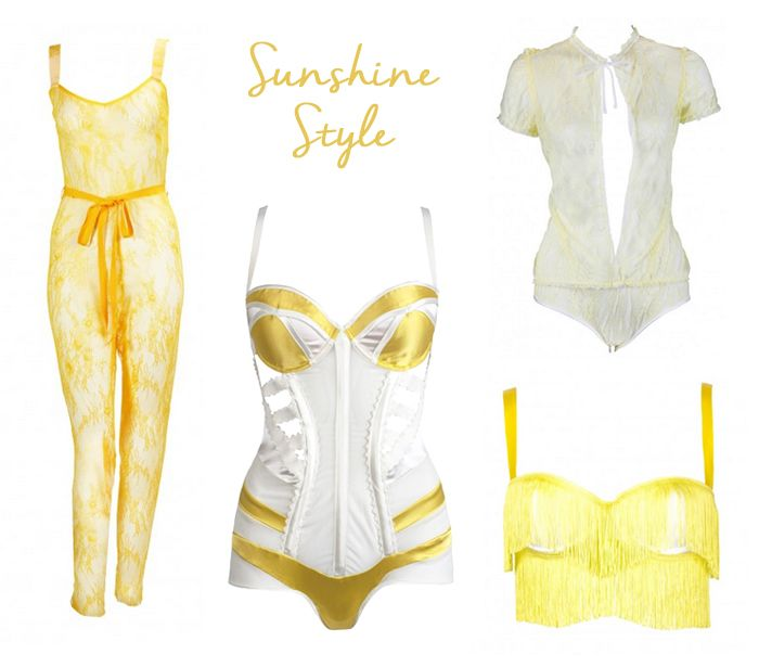 Yellow bright summer lingerie