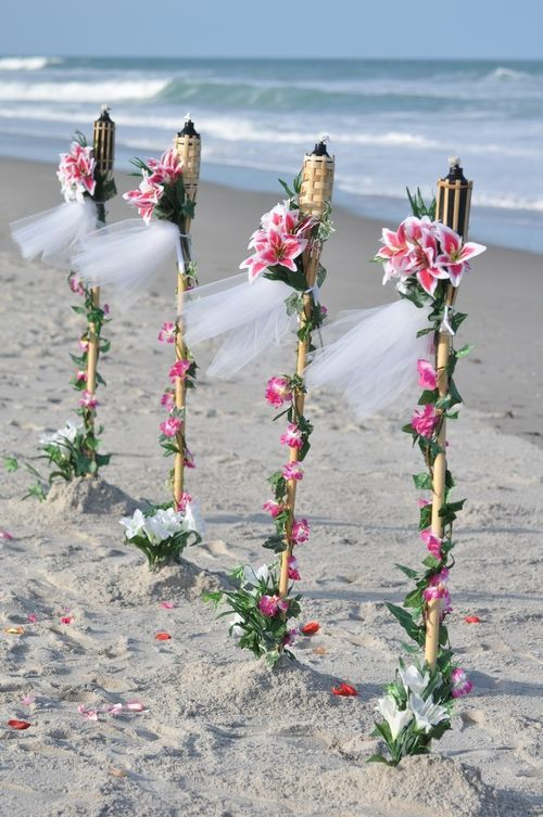 outdoor table decor tiki torch flowers | for tiki lights decorated tiki torch for festivehelpful affair such as ...