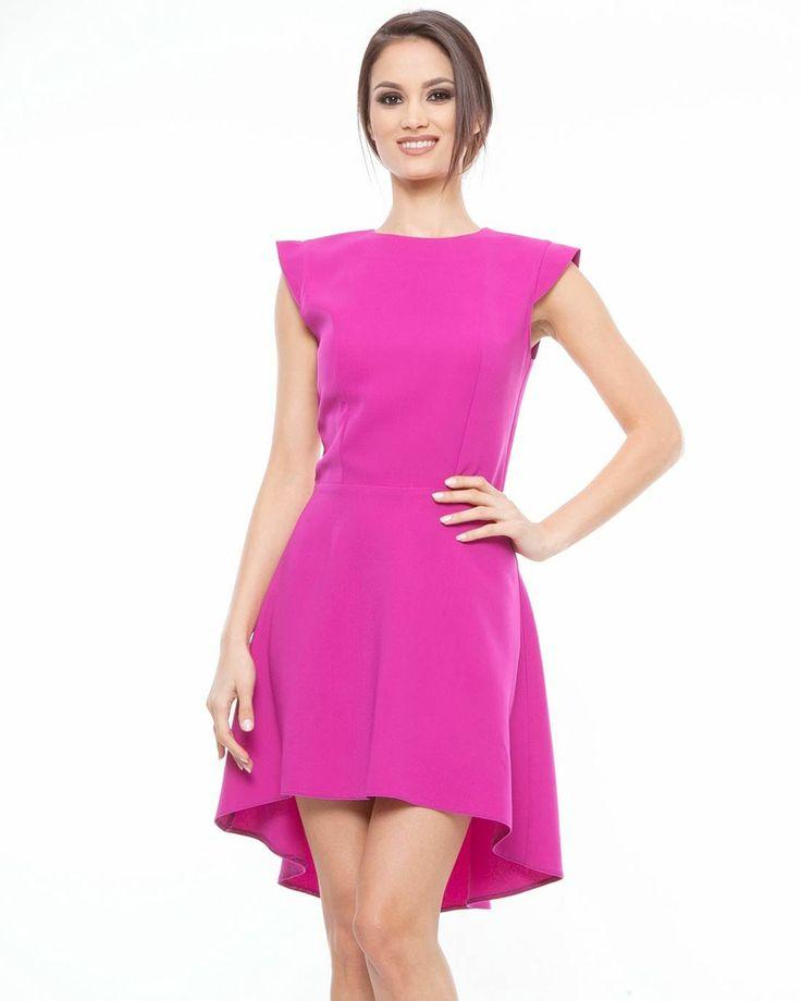 Lisa Moretti High-Low Hem Dress Made In Europe