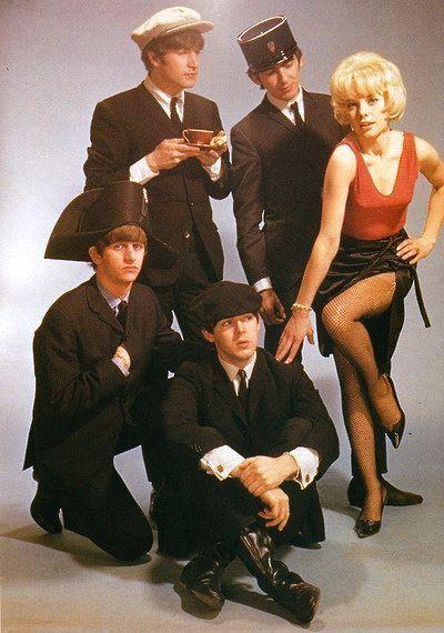 The Beatles and Sylvie Vartan, 1964   beatles   Beatles ...