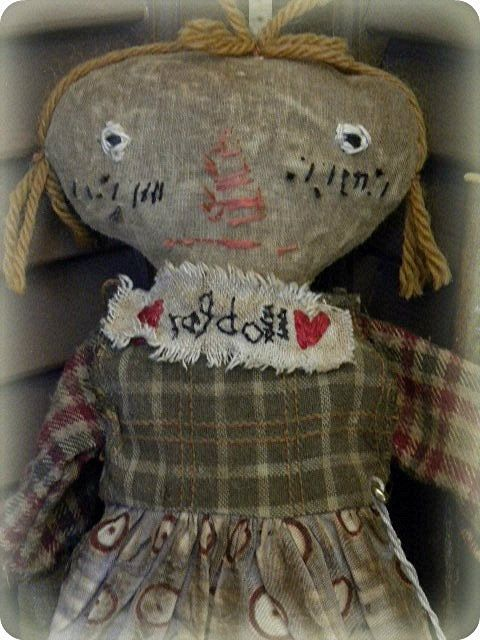 Very Primitive Doll, Primitive Doll, Primitive Folk Art, Folk Art Doll, Old Rag Doll, Cloth Rag Doll, Rag Doll, Antique Rag Doll, Antique