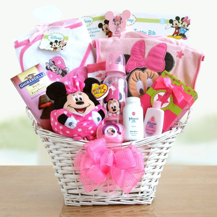 Minnie Mouse Baby Girl Gift Basket - Gift Baskets by Occasion at Hayneedle