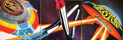 ELO TB Boston... - (electric light orchestra)(tubular bells)(boston)(album covers)