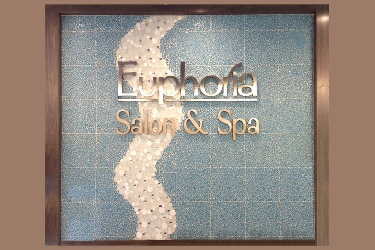 New Interior sign for Euphoria Salon and Spa.