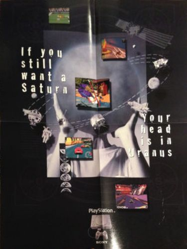 """Sony - """"If you still want a Saturn your head is in Uranus""""."""