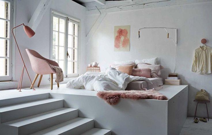 chambre parentale pastel et blanche / Décoration chambre / Colors bedroom