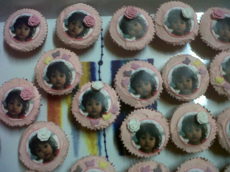 Party : Pink editable cupcakes