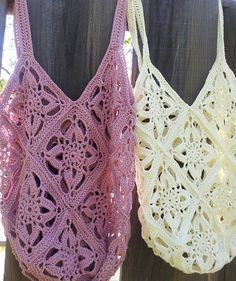 Pretty crochet bag free instructions – German & English